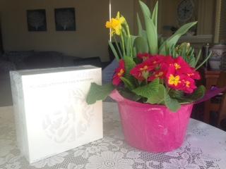 flowers and Usana My health pack