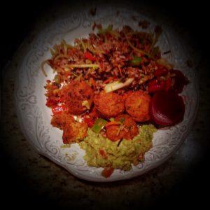 nasi-goreng-and-falafels